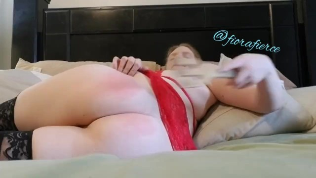 Spanking myself for you 2