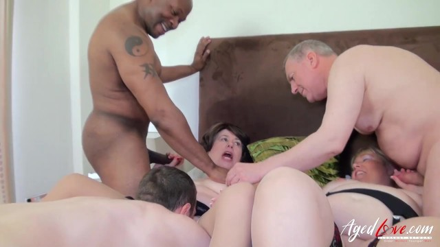 AgedLovE Three Guys versus Two Horny Ladies 25