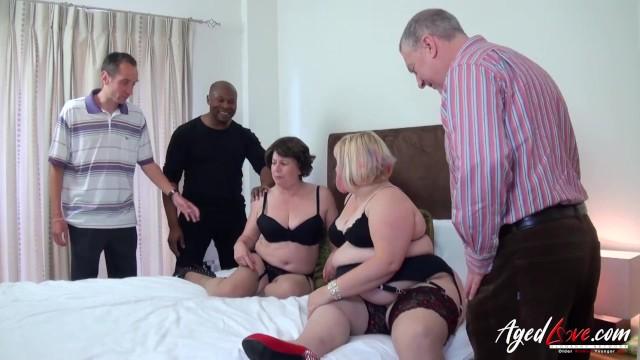 AgedLovE Three Guys versus Two Horny Ladies 19