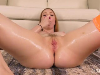 All Natural Arietta Adams Stretches Her Tight Asshole By Using Various Toys
