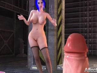 Scifi lesbian futanari hardcore aniamation...