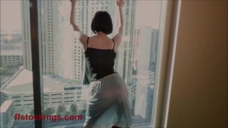 FFstockings – Exhibitionist at the window
