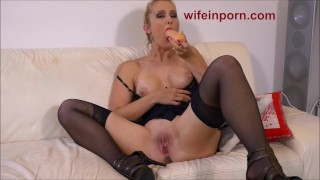 StockingVideos - Cream All Over My Face, the More the Better