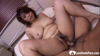 Chubby babe with huge tits rammed passionately