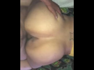 Latina clapping ass on big dick and spreads...