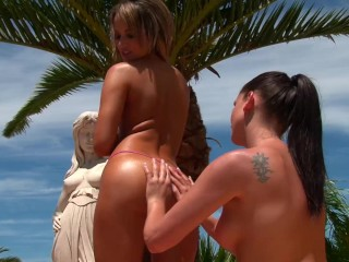 Preview 3 of Hot & horny lesbians Sandra Shine & Aleska Diamond lick their tasty pinks