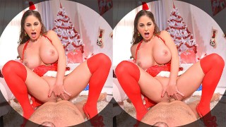 Get ready to fuck busty Santa babe Cathy Heaven in VR POV anal sensation