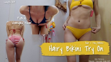 Hairy Bikini Try On