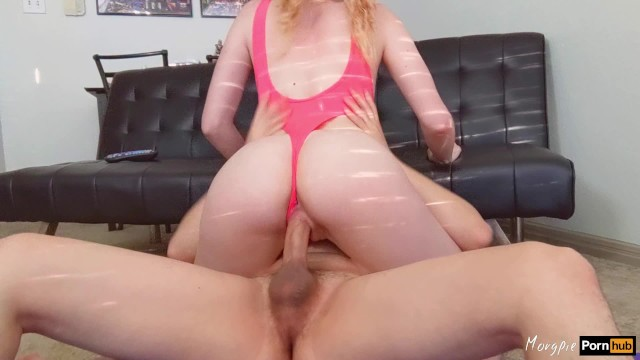 His huge moose cock Roommate interrupts workout to fill my tight pussy with his huge cum load
