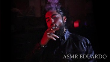 ASMR - Smoking Cigar In Leather Jacket Watching Old Cartoon Ft. Deep Voice