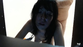 POV my boyfriend fucks me while you watch from the closet