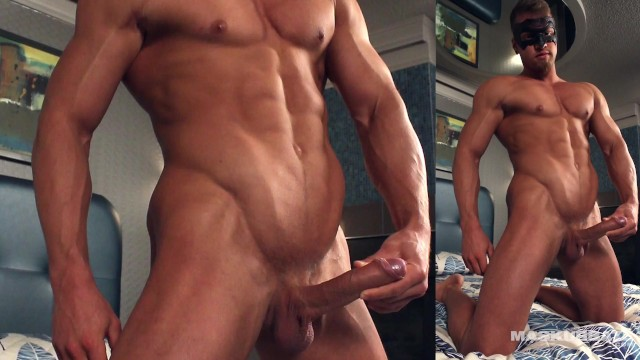 Canadian gay male Maskurbate big dick canadian hunk is back