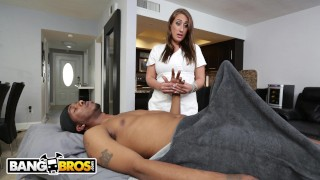 BANGBROS - Sexy Masseuse Skyler Luv Gets Her Big Ass Fucked By Charlie Mac