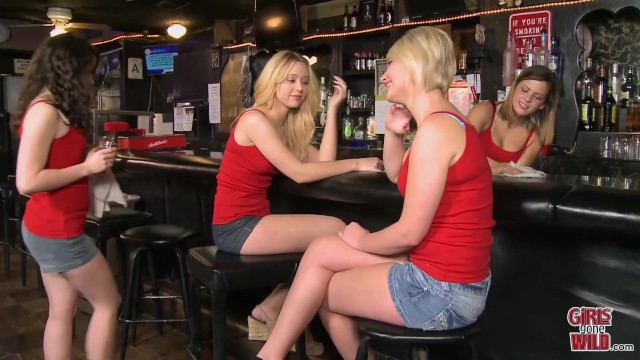 GIRLS GONE WILD - Teen Lesbians Letting Loose At A Bar 16