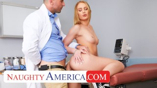 Naughty America - Daisy Stone needs her Pussy checked by the Dr.