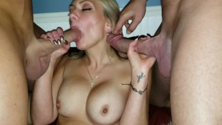 BEST Amateur DVP CREAMPIE in 4k! TINY Hot WIFE SPLIT in HALF by 2 HUGE COCK