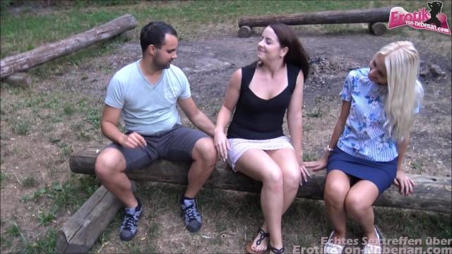Download Gratis Video  Partner Tausch beim Outdoor Vierer mit süßen Swinger Freundinnen