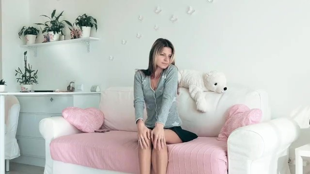 Gina Gerson is playing with her puppy and her pussy 16