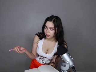 ASMR hooters waitress gives you what you need