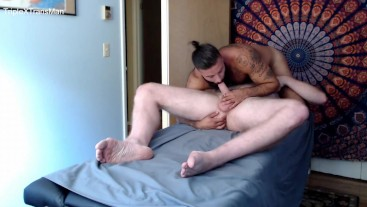 """Raw Sex from Hung 6'7"""" Daddy on Massage Table"""