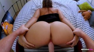 Screen Capture of Video Titled: Slutty SchoolGirl Gets Messy Creampie Surprise - Molly Pills - POV 1080p