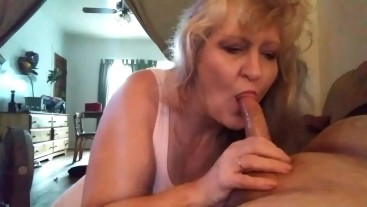 Dads new wife throat's my cock any time were alone