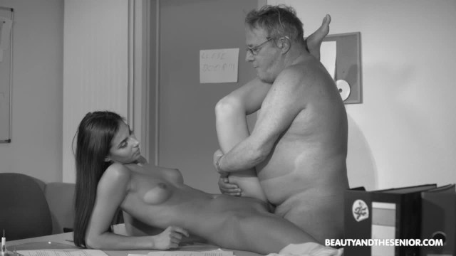 Black senior citizen xxx trailer Senior citizen struggling with horny boss