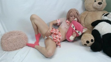 Little Rose is Strawberry Princess the ahegao cum slut