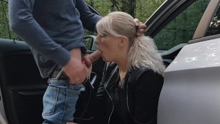 Screen Capture of Video Titled: Quick sex and facial in the parking lot
