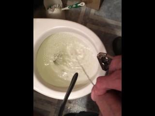 Pisses restroom fetish mobile upload...