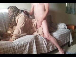 Arab wife in hijab fucked by friend...