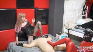 Two mistress ,stockings and latex -BDSM