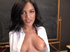 Alina Belle Receives Orgasm Lesson from her Teacher - AmateurBoxxx