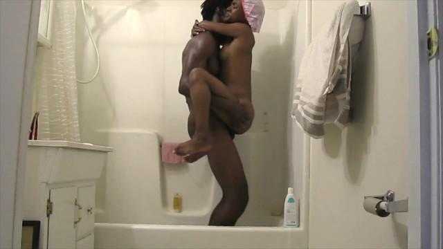Thick Black Girl Shower