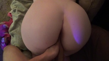 POV - Intimate Creampie on the Couch