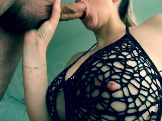 Amateur sucks over her mouth...