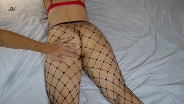 Ass Spanking And Grabbing, MILF In Black Fishnets ~DirtyFamily~