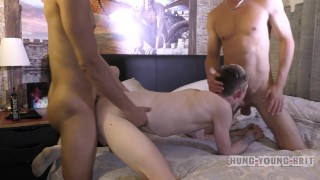 Scally boy left CREAMED up and frothy with spunk