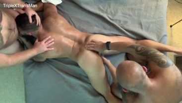 Passionate Raw Fuck for Hairy FTM from Hung Bearded Bear, Camerman gets BJ