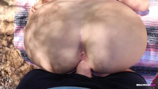 Anal Virgin Fucked at Public Beach - Molly Pills - Hot Outdoor Creampie POV
