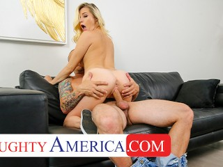 NaughtyAmerica – Carolina Sweets finds her friends dad jerkin off