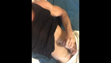 Gay guy cums on belly button in less than 1 minute