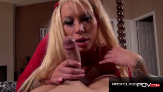 Hardcore Deepthroat and Titty Fuck with Busty Blonde Lolly ink