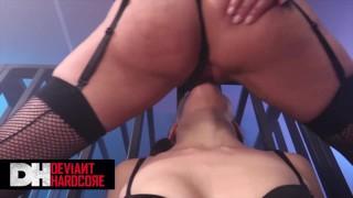 Deviant Hardcore - Caged Schoolgirl Megan Rain Gets Domed By Brett Rossi