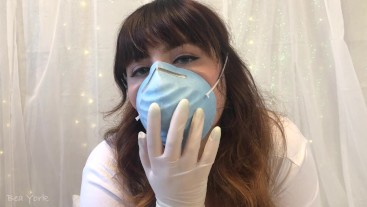 ASMR: Showing off Mask with Latex Gloves