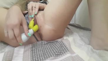 New vibro toy get pussy wondersful orgasm