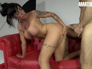 AmateurEuro - Busty Pornstar Squirts Getting Fucked By An Amateur Stud