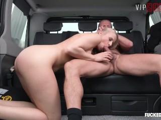 VIPSEXVAULT - Super Hot Czech Teen Fucked Like A Slut In a Taxi