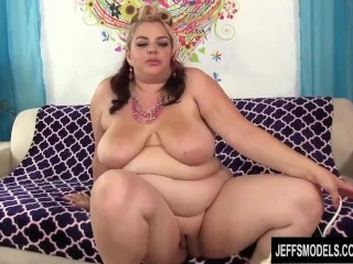 Big Tits Plumper Buxom Bella Pleasures Herself with a Dildo and Vibrator