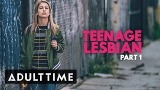adult time teenage lesbian- kristen scott peeps on couple at party – teen porn